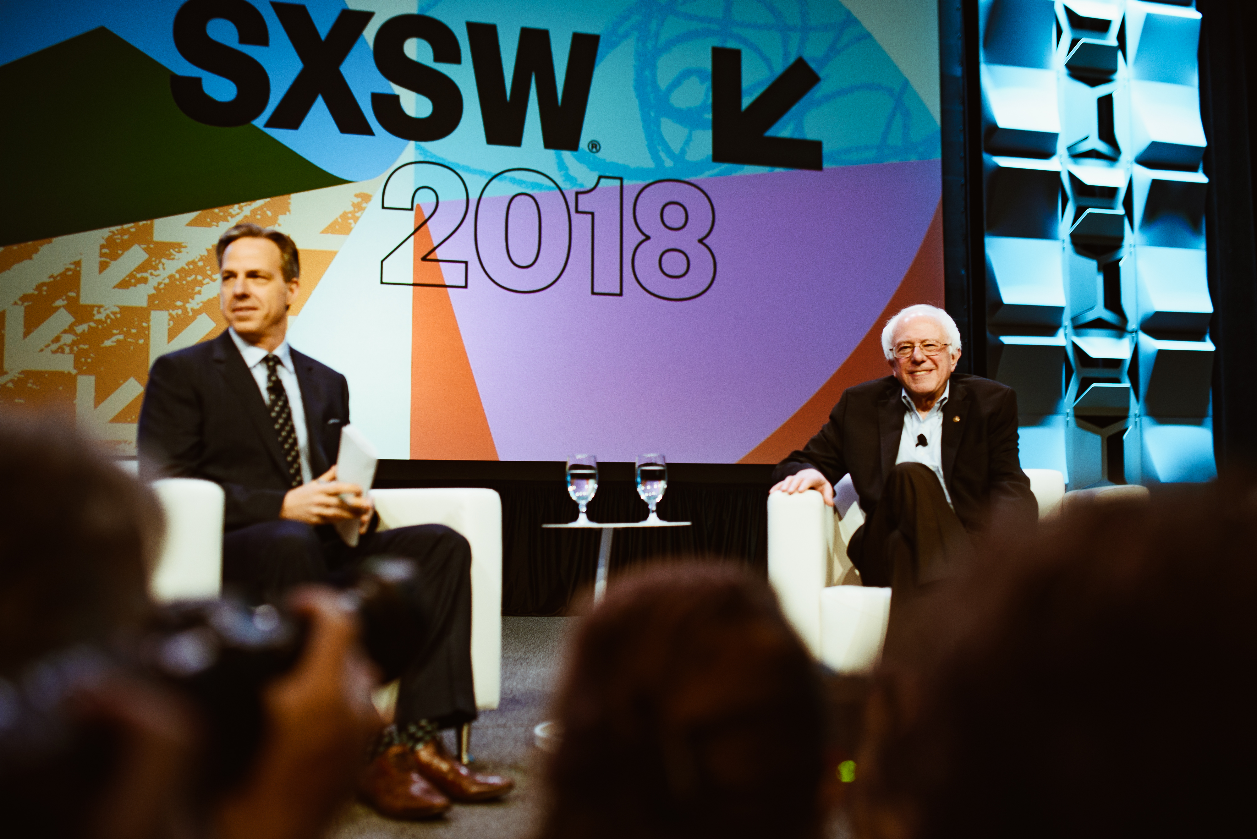 Jake Tapper and Bernie Sanders | Photo by Judy Won