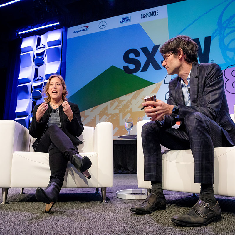 Susan Wojcicki Navigating the Video Revolution in the Digital Age session SXSW 2018 - Photo by Bianca Hooks