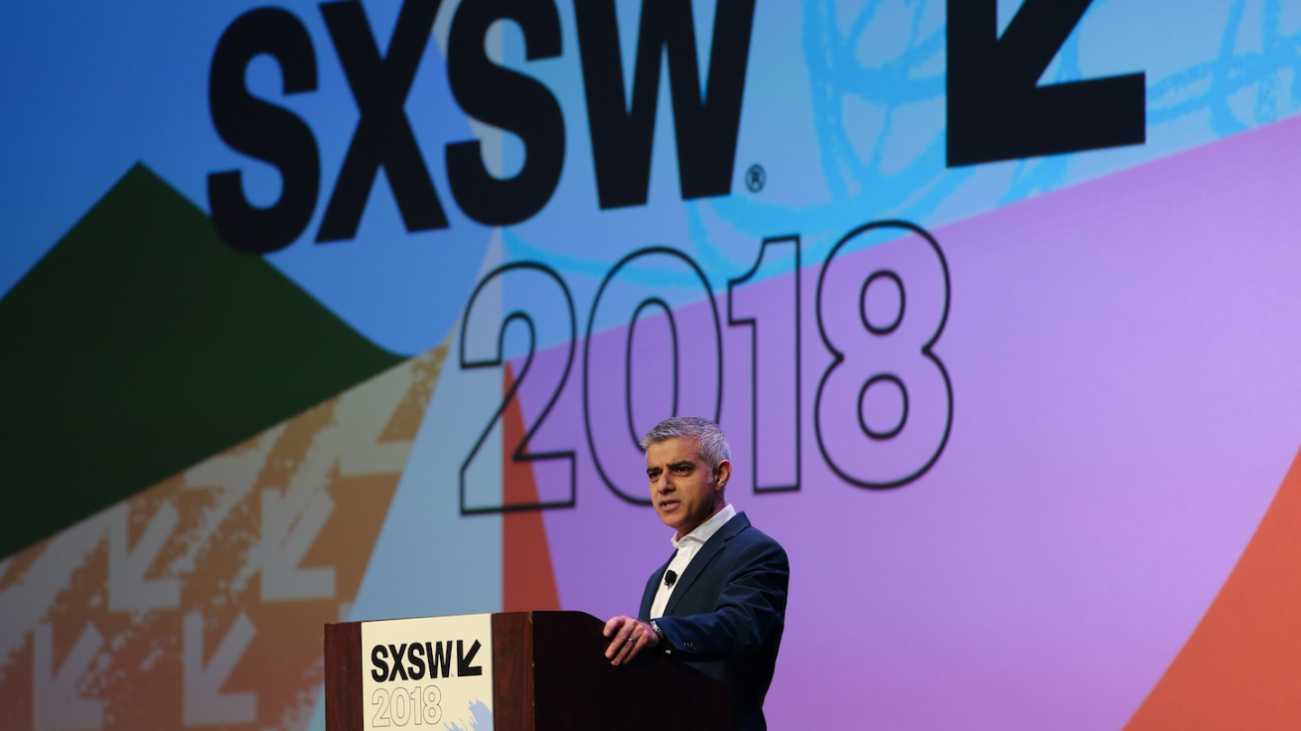 SXSW 2018 Keynote, Sadiq Khan – Photo by Randy & Jackie Smith