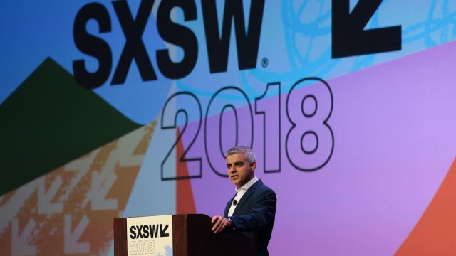 Sadiq Khan at SXSW 2018. Photo by Randy & Jackie Smith.