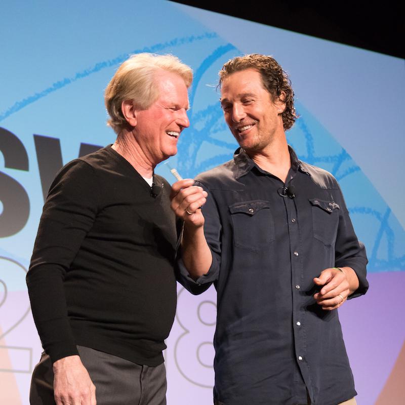 Roy Spence & Mathew McConaughey - Photo by Abigail Craig