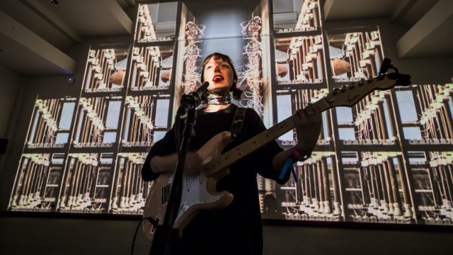 Stella Donnelly performs at Conductors and Resistance by Ronen Sharabani - Photo by Aaron Rogosin