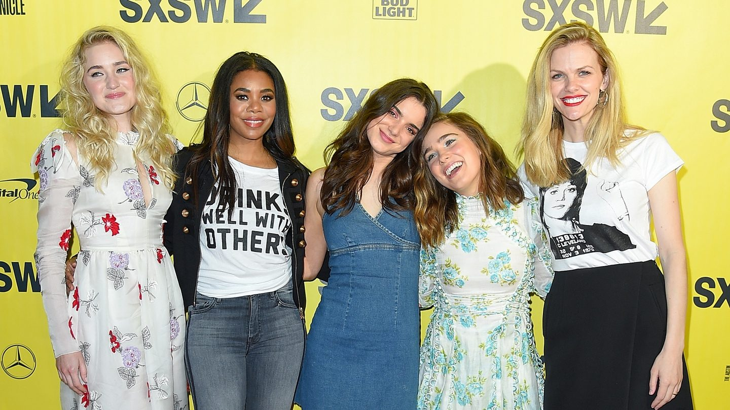 AUSTIN, TX - MARCH 09: (L-R) Actresses AJ Michalka, Regina Hall, Dylan Gelula, Haley Lu Richardson and Brooklyn Decker attend the