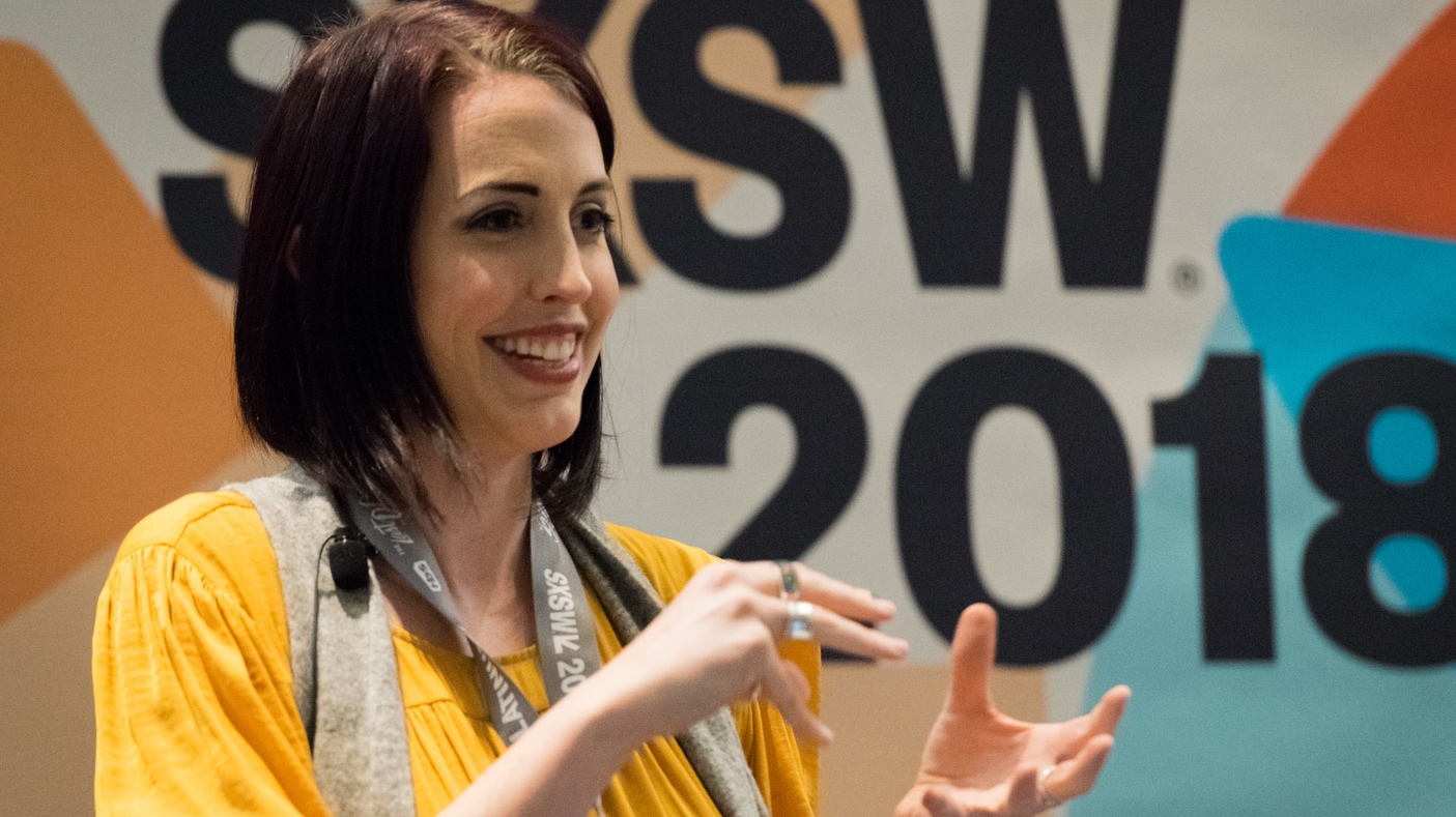 Emily Quinn during 2018 SXSW Session The 'I' Stands for Intersex, Not Invisible - Photo by Kumi Otani