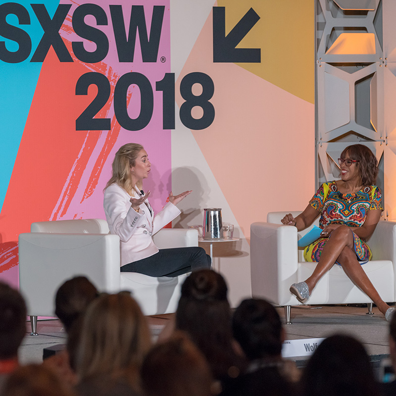 Featured Speaker Whitney Wolfe Herd at SXSW 2018 - Photo by Scott Paxton