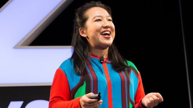 Yiying Lu during SXSW 2018 Session Create Cross-Culture Designs for a Global Audience - Photo by Shedrick Pelt