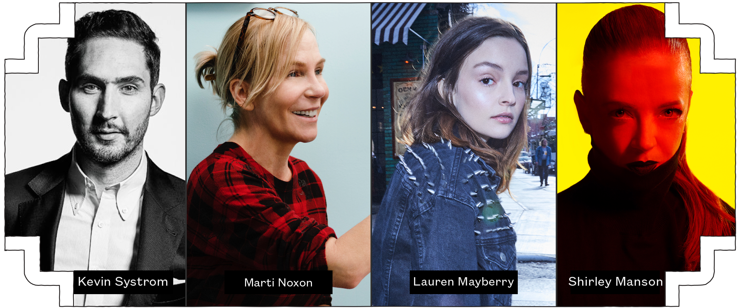 2019 SXSW Keynotes – Kevin Systrom, Marti Noxon (Photo by Patrick Harbron, AMC), Lauren Mayberry, and Shirley Manson