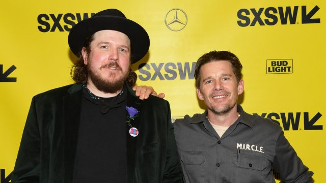 AUSTIN, TX - MARCH 16: Ben Dickey and Ethan Hawke attend the