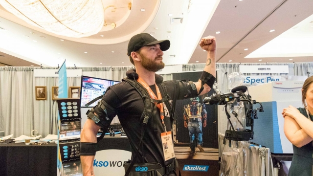 SXSW Interactive Innovation Awards 2018 Finalist Showcase Winner EksoVest - Photo by Steven Snow