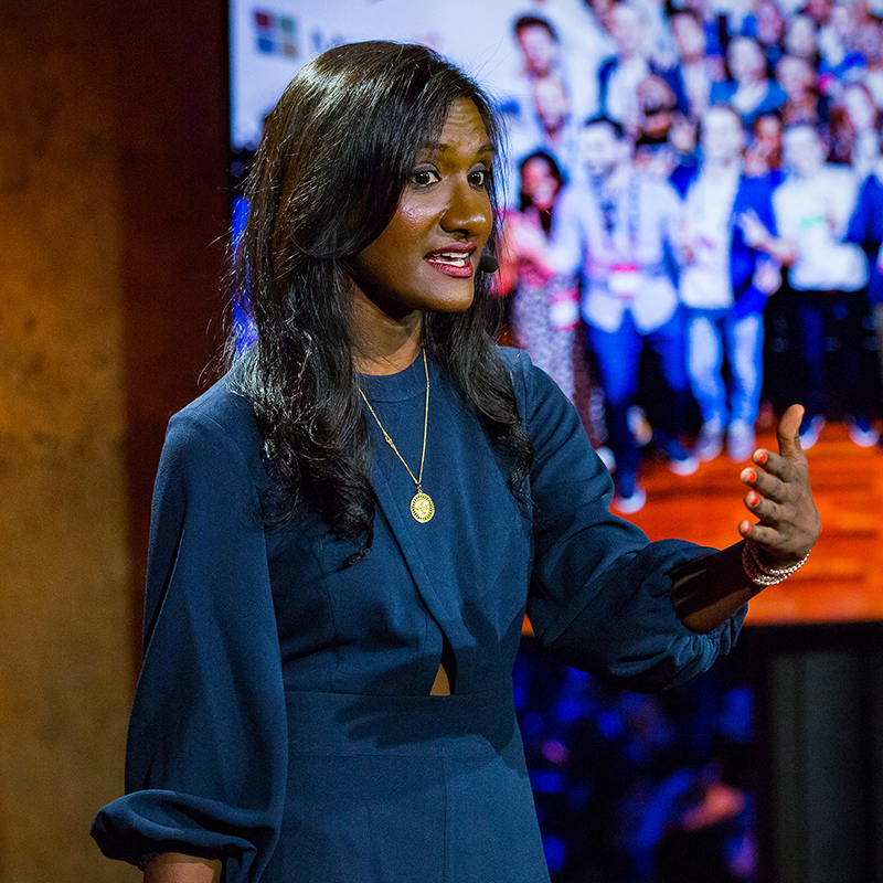 TED Resident Ashwini Anburajan speaks at TED Residency Salon, Session 1, May 31, 2017, New York, NY. Photo Courtesy of Ryan Lash / TED