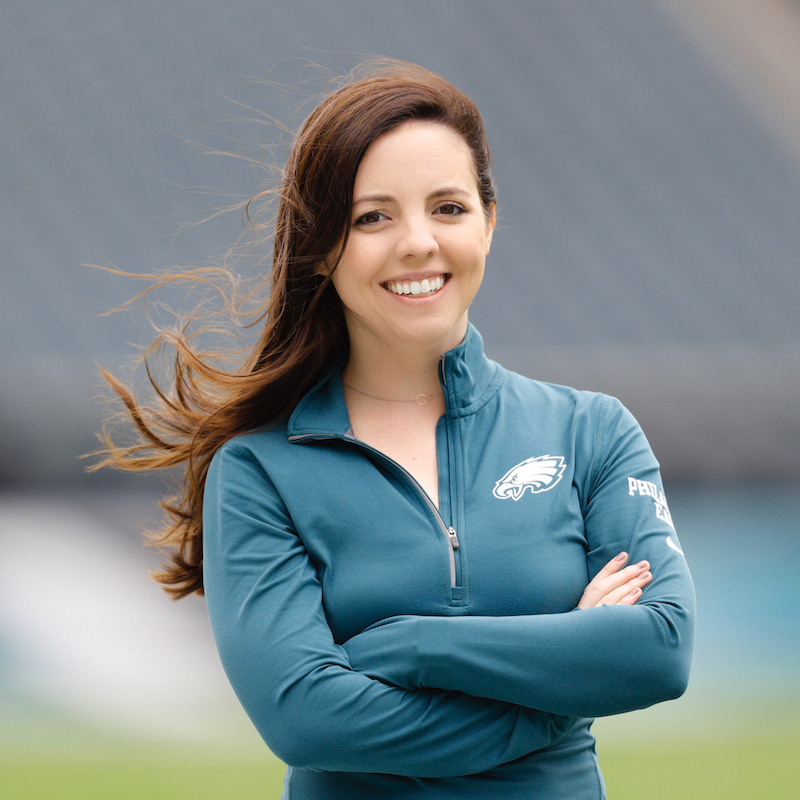 Samantha Wood - Photo by Brian Garfinkel/Philadelphia Eagles