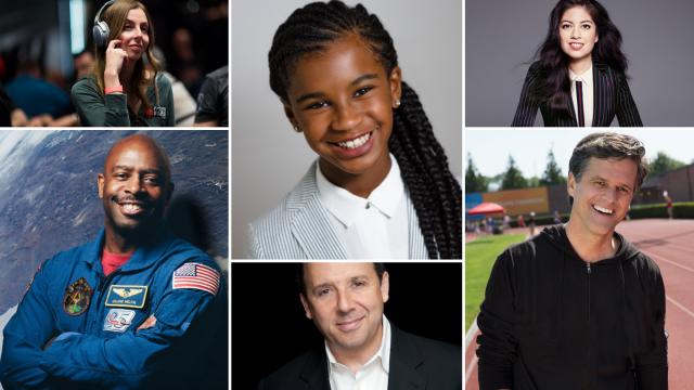 SXSW EDU Featured Speakers Maria Konnikova, Marley Dias, Natalia Oberti Noguera, Leland Melvin, Ron Suskind, & Tim Shriver.