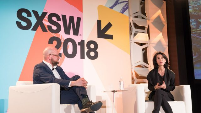 The World's Smartest City session at SXSW 2018 featuring Theo Blackwell & Katherine Oliver - Photo by Kurt Lunsford