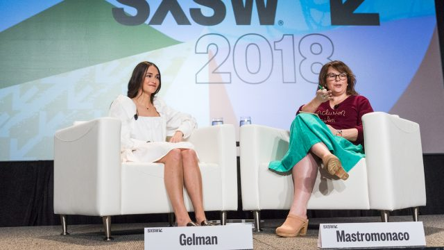 Women + The Power of Community SXSW 2018 session with Alyssa Mastromonaco & Audrey Gelman - Photo by Steven Snow
