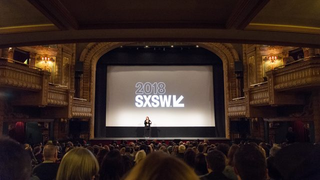 Photo from back of Paramount theatre, packed house - Photo by Tina Rataj