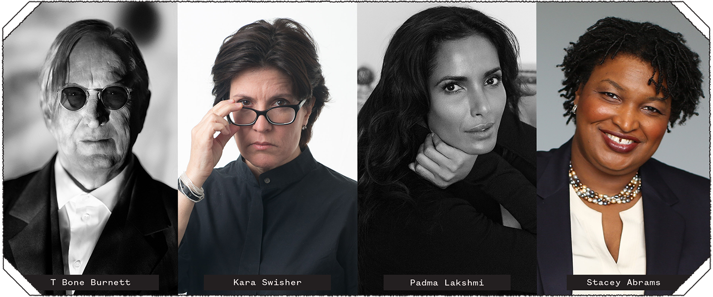 2019 SXSW Keynotes T Bone Burnett and Kara Swisher, and 2019 SXSW Featured Speakers Padma Lakshmi and Stacey Abrams