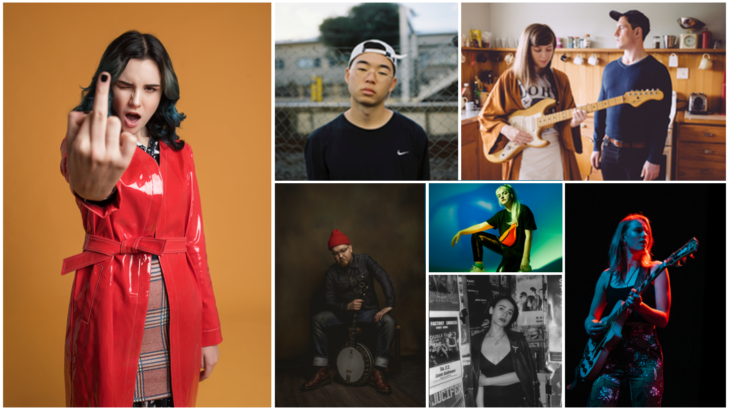 2019 Showcasing Artists (l-r, t-b):Rizha, Hans, French For Rabbits, Darren Eedens & the Slim Pickin's, BABii,  Laura Carbone, Emily C. Browning