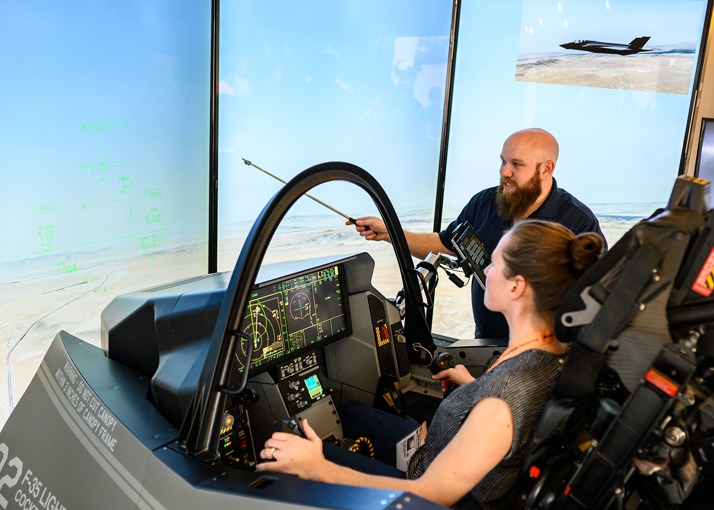 Fort Worth in Flight on Rainey offers participants a chance to experience lightning-fast speed in a F-35 cockpit demonstrator. Photo by Ann Alva Wieding