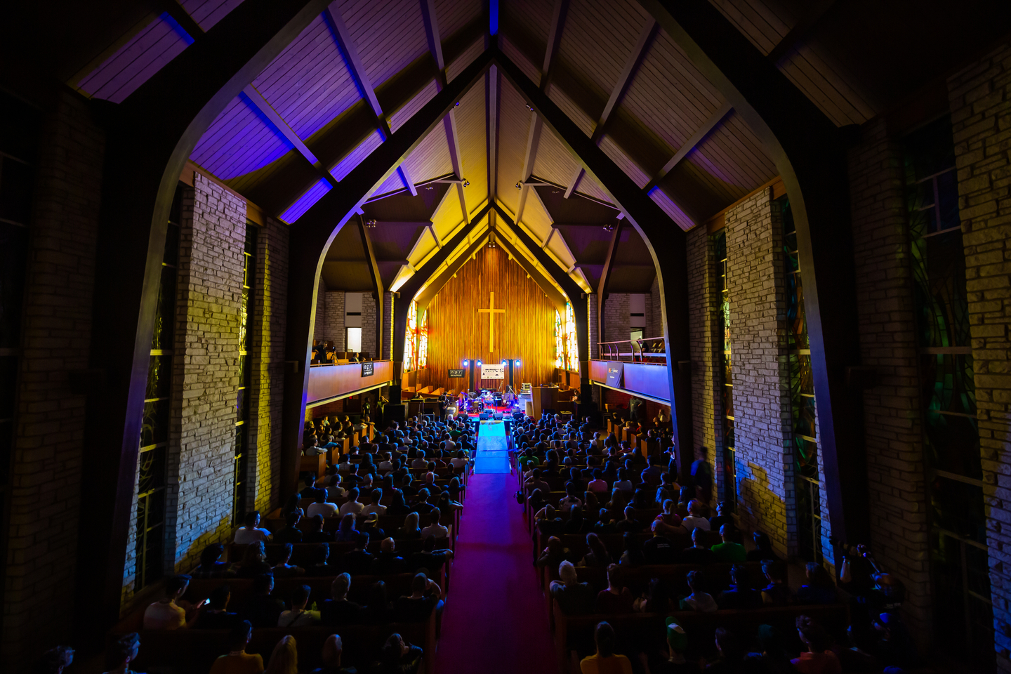 NPR brought their Tiny Desk Concert series to SXSW at Central Presbyterian Church.