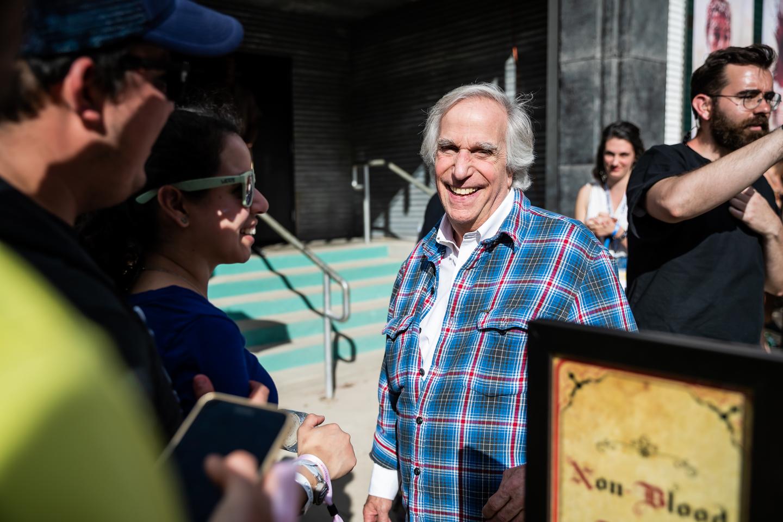 Henry Winkler outside HBO's Bleed For The Throne activation at Fair Market.