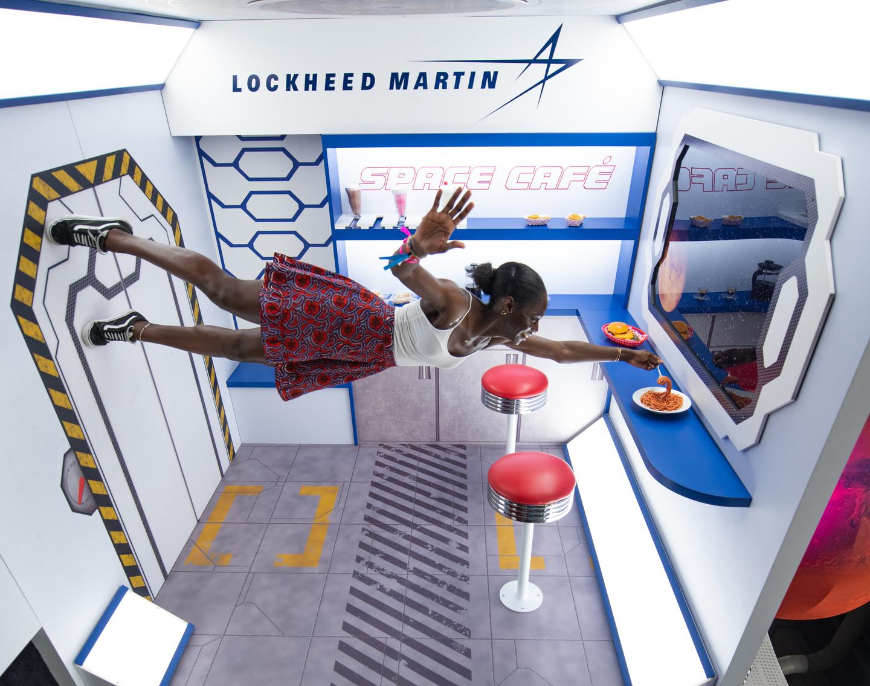 Lockheed Martin's Space Café at the Trade Show - Photo by Tico Mendoza