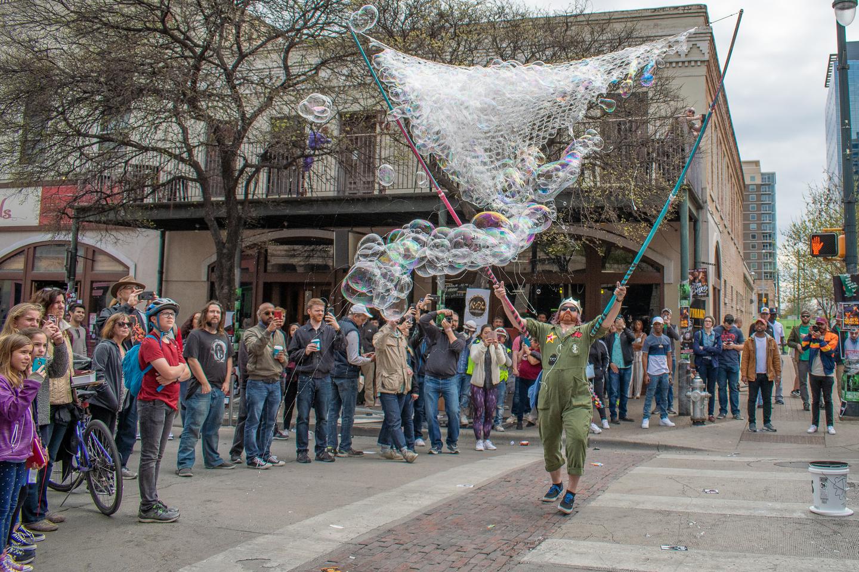 Sixth Street bubbles – Photo by Deborah Finley
