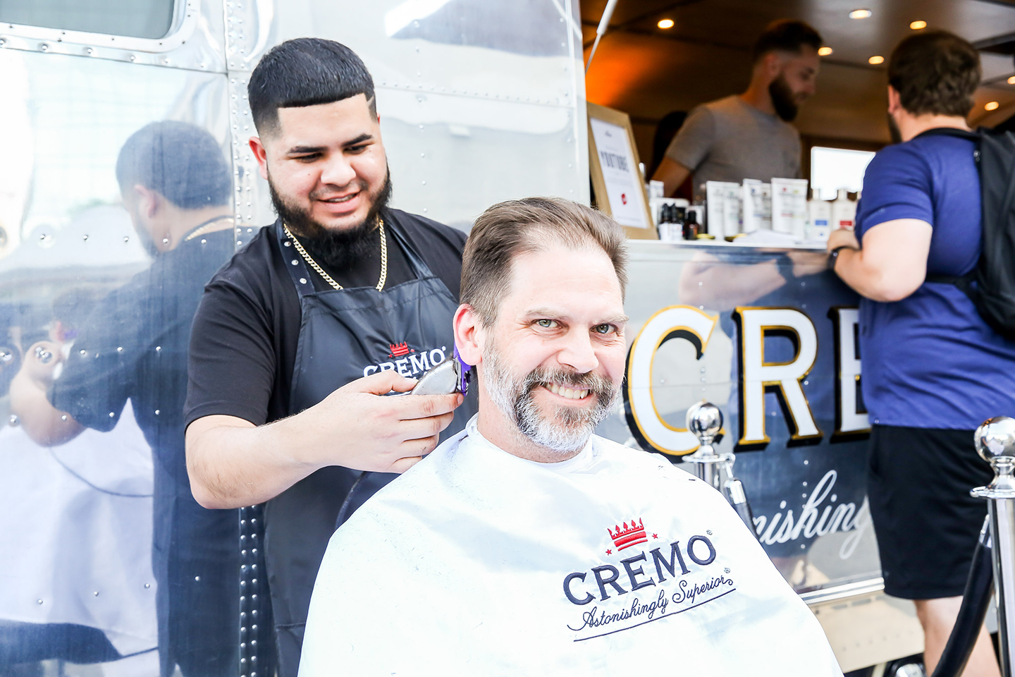 Cremo Grooming Experience gave away free shaves, beard trims, haircuts, and products. Photo by Diego Donamaria