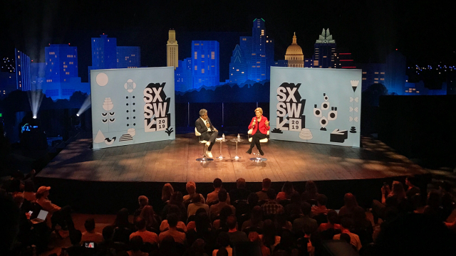 2019 SXSW Featured Speaker, Elizabeth Warren – Photo Anne Cox
