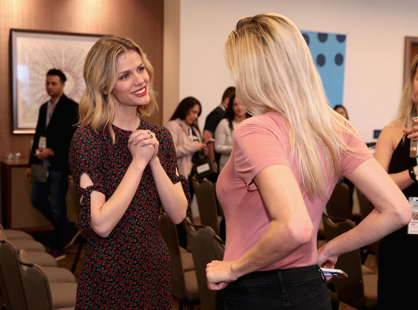 Brooklyn Decker (L) at Heather Dubrow's World Podcast at JW Marriott - Photo by Steve Rogers Photography/Getty Images for SXSW