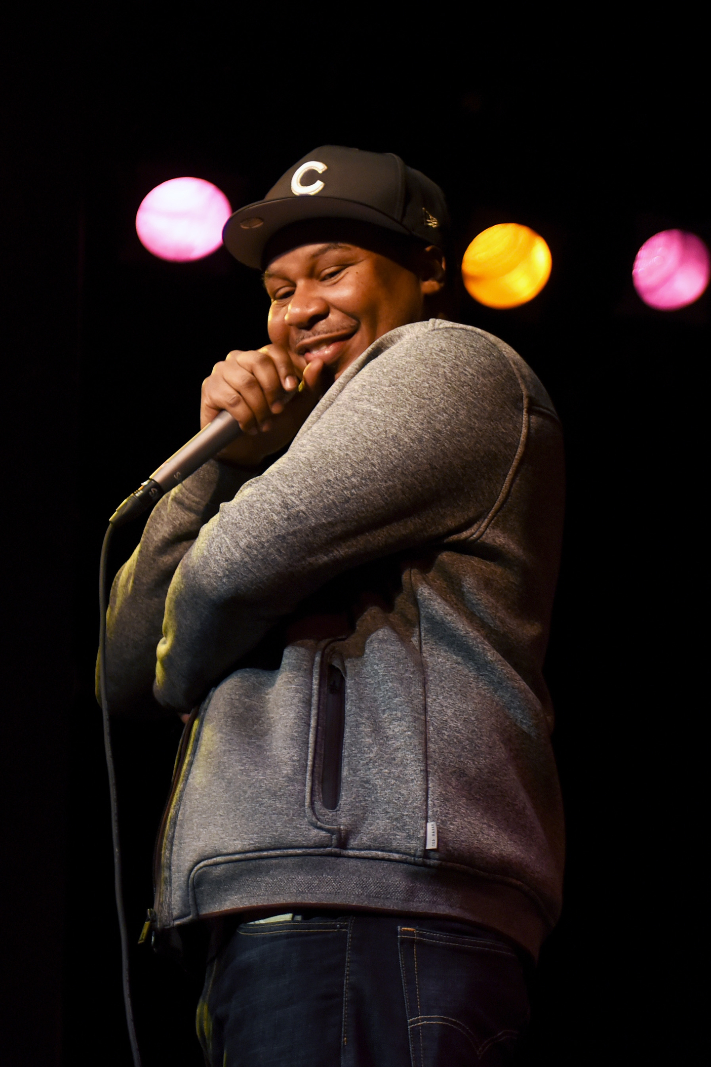 Roy Wood Jr. performs onstage at The Daily Show News Team Live at Esther's Follies.