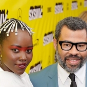 Lupita Nyong'o and Jordan Peele on the red carpet for Us world premiere at the Paramount Theatre - Photo by Ismael Quintanilla/Getty Images for SXSW