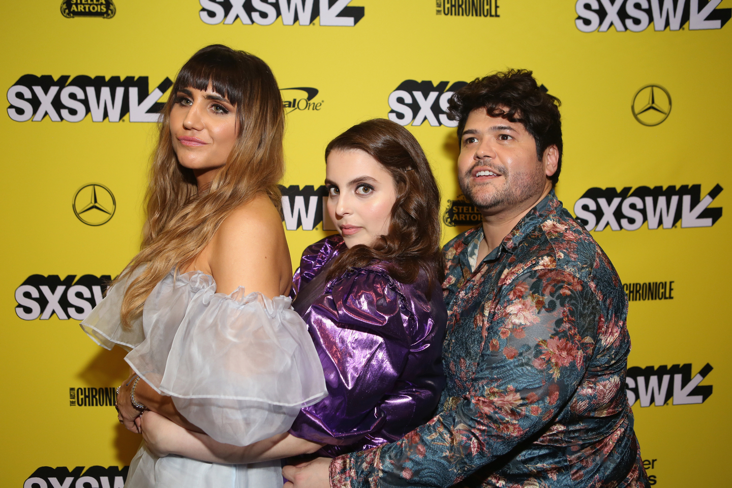 (L-R) Natasia Demetriou, Beanie Feldstein, and Harvey Guillen at the What We Do in the Shadows world premiere at the Paramount Theatre. Photo by Travis P Ball/Getty Images for SXSW