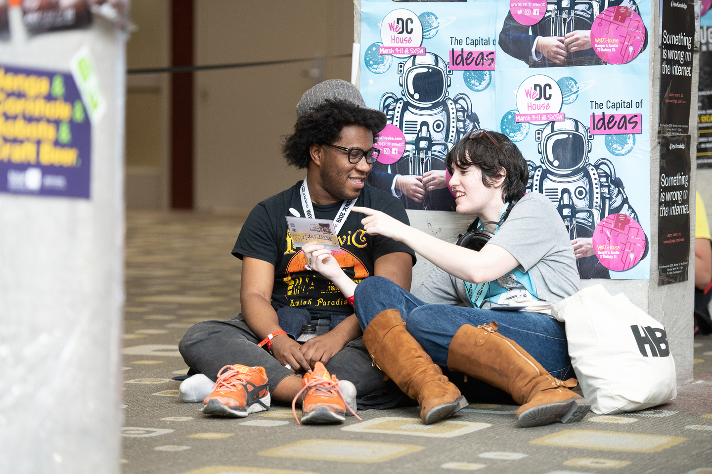 SXSW's footprint is large, so don't forget to stop and rest your feet. Photo by Adam Kissick