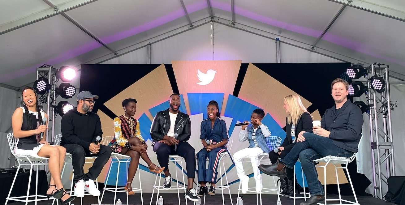 The cast and director of Us speaks onstage at the #TwitterHouse.
