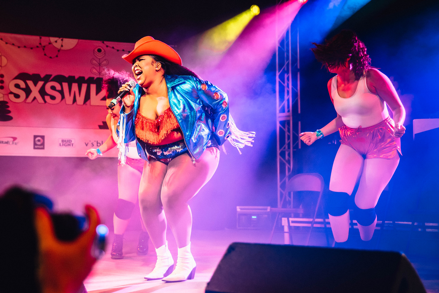 Lizzo performs onstage at at Stubb's, presented by Ticketmaster Music.