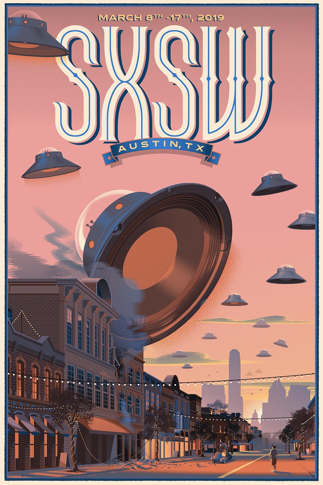 Laurent Durieux-SXSW poster