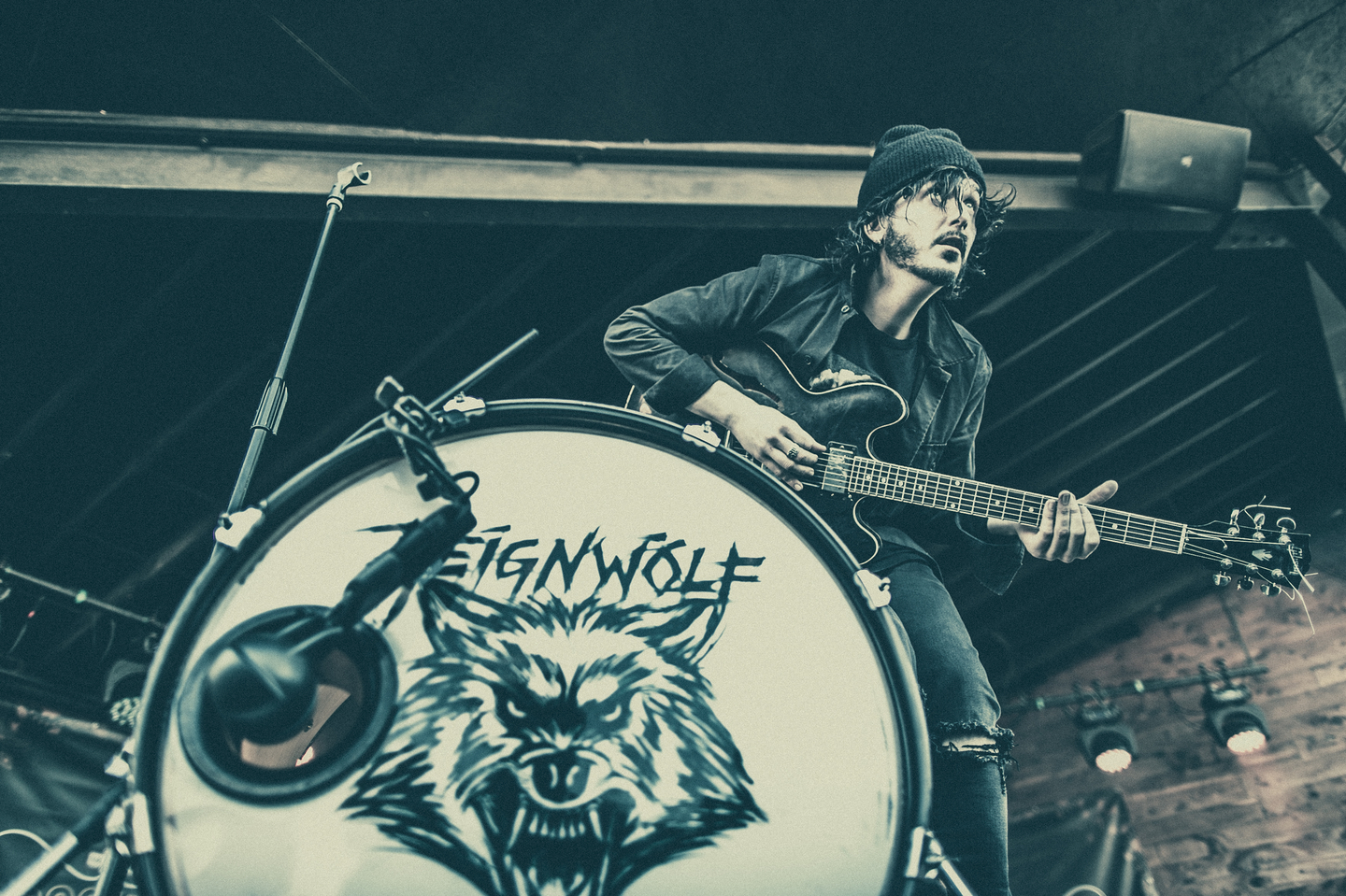 Reignwolf performs onstage at the Brooklyn Bowl Family Reunion at Scoot Inn.