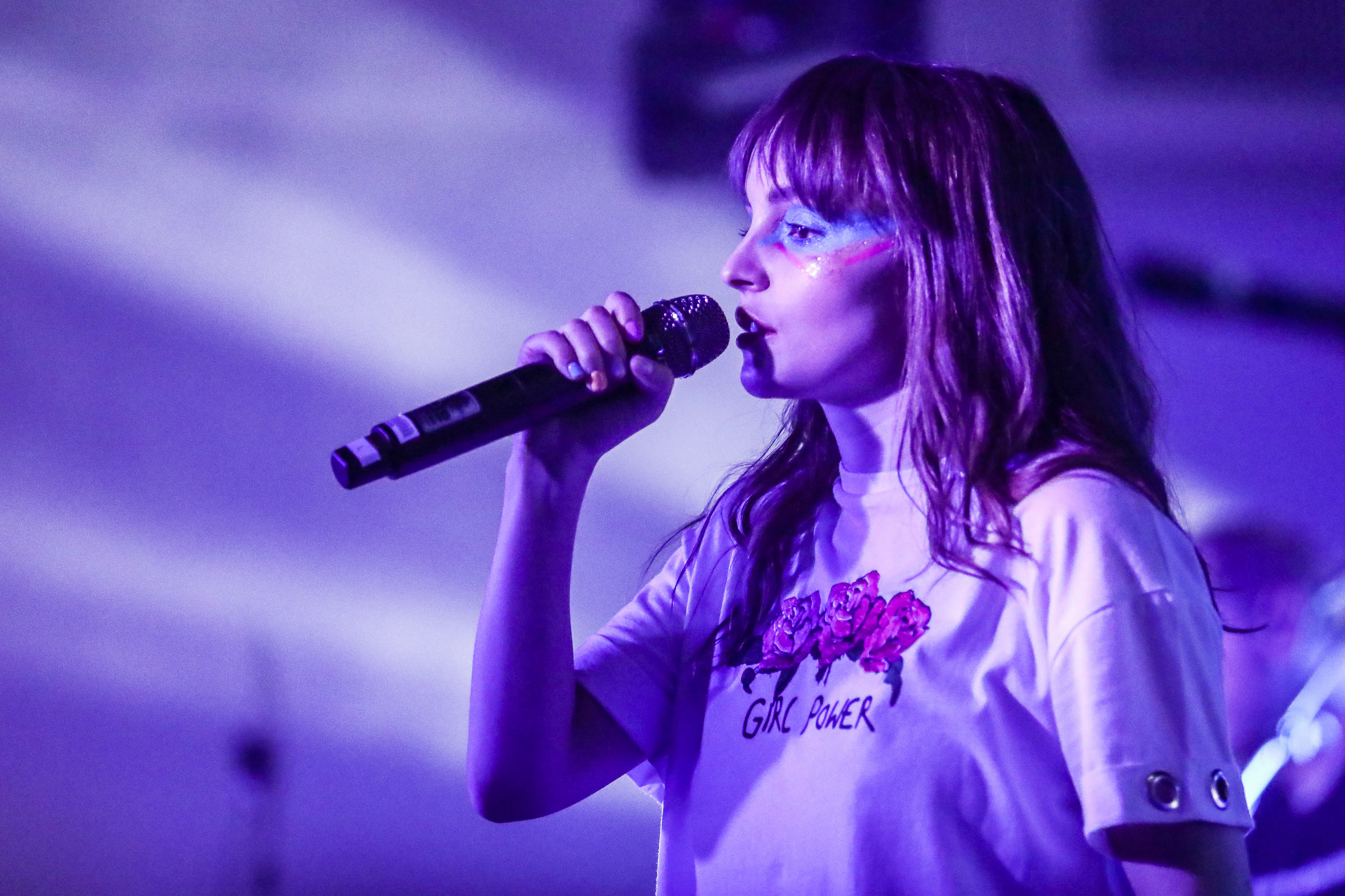 Lauren Mayberry of CHVRCHES performs at Capitol One House at Antone's. Photo by Diego Donamaria