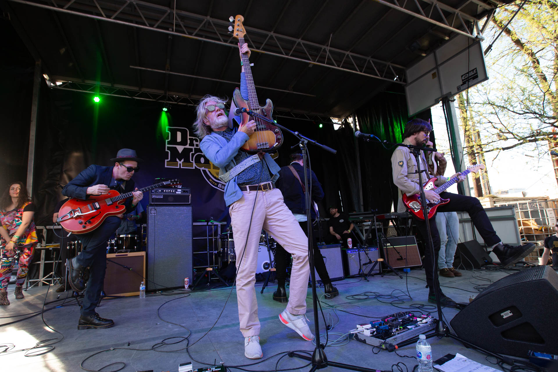 Broken Social Scene perform at Doc Marten presents at the Container Bar.