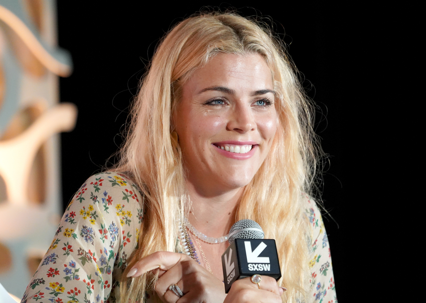 Busy Philipps speaks onstage with Hillary Kerr during a Featured Session. Photo by Amy E. Price/Getty Images for SXSW