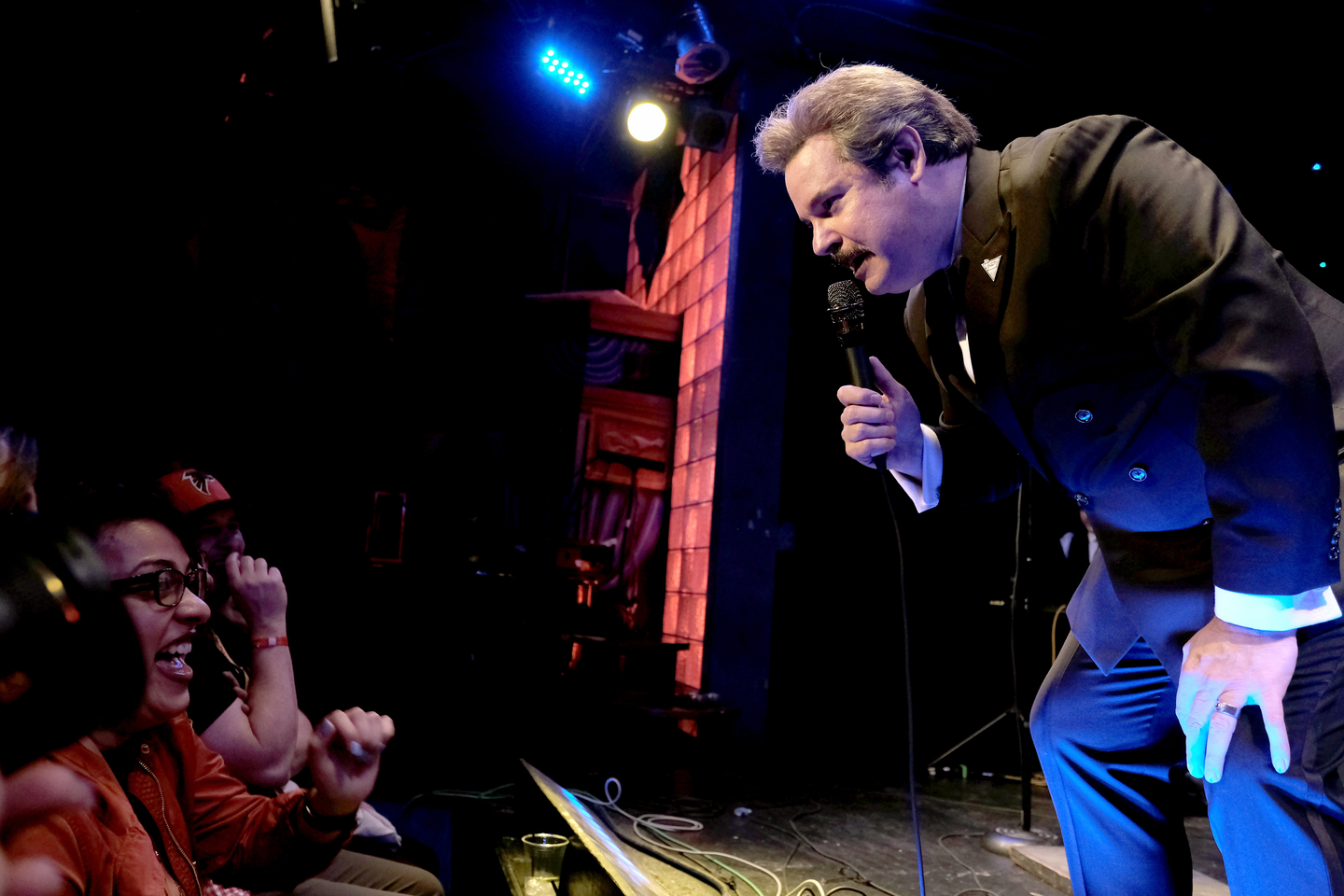 Paul F. Tompkins speaks onstage at Dynasty Typewriter presents That's Enchantertainment! at Esther's Follies.