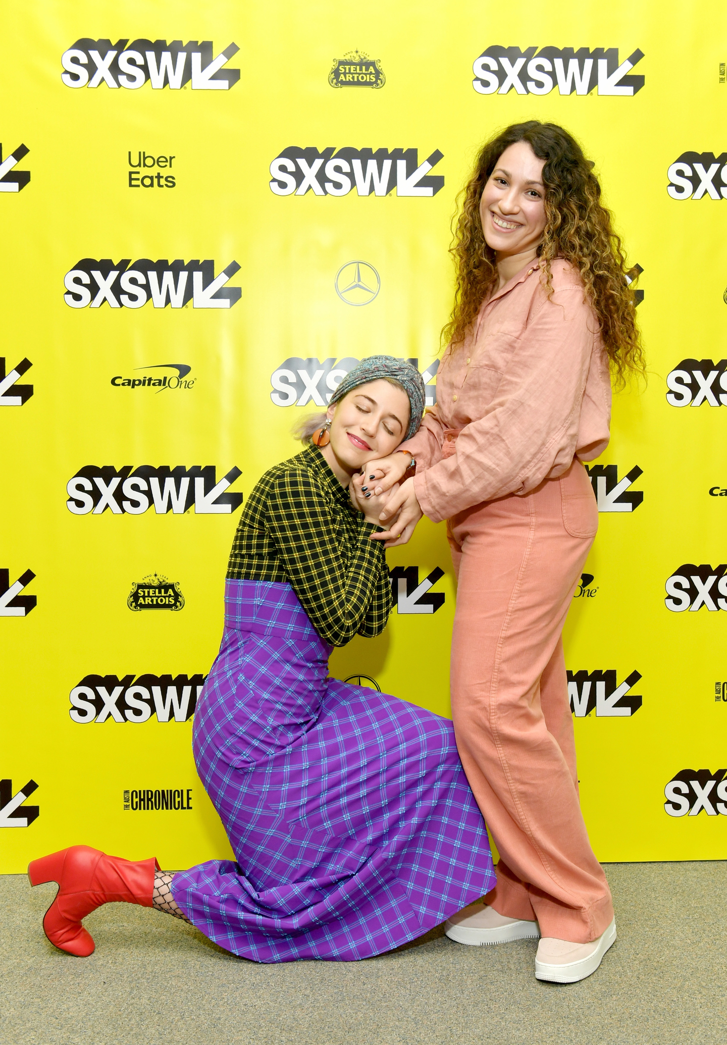 (L-R) Annabelle Attanasio and Lizzie Shapiro at the Mickey and the Bear world premiere at Stateside Theatre - Photo by Danny Matson/Getty Images for SXSW