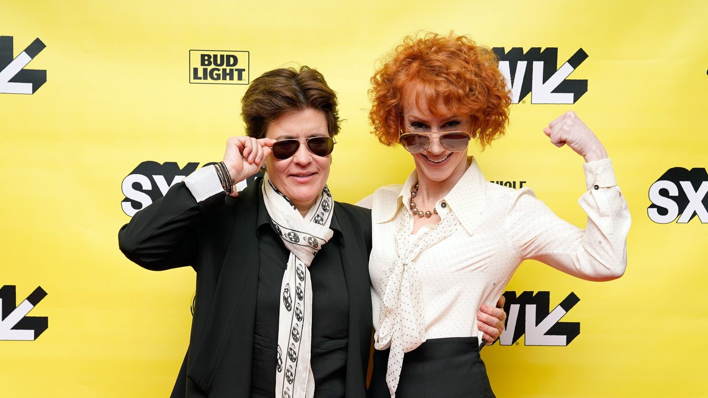 (L-R) Kara Swisher and Kathy Griffin at their Convergence Keynote - Photo by Ismael Quintanilla/Getty Images for SXSW