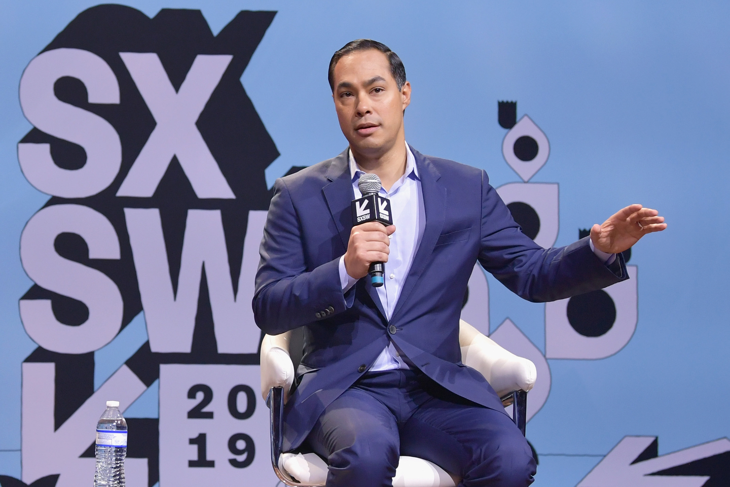 Former U.S. Secretary of Housing & Urban Development Julián Castro speaks onstage at Conversations About America's Future at Austin City Limits Live at the Moody Theater.
