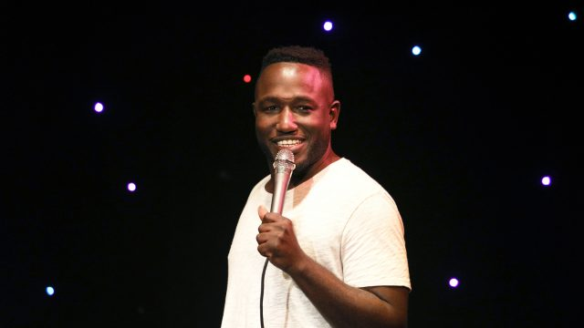 Hannibal Buress performs onstage at 'The New Negroes with Baron Vaughn and Open Mike Eagle' at Esther's Follies.