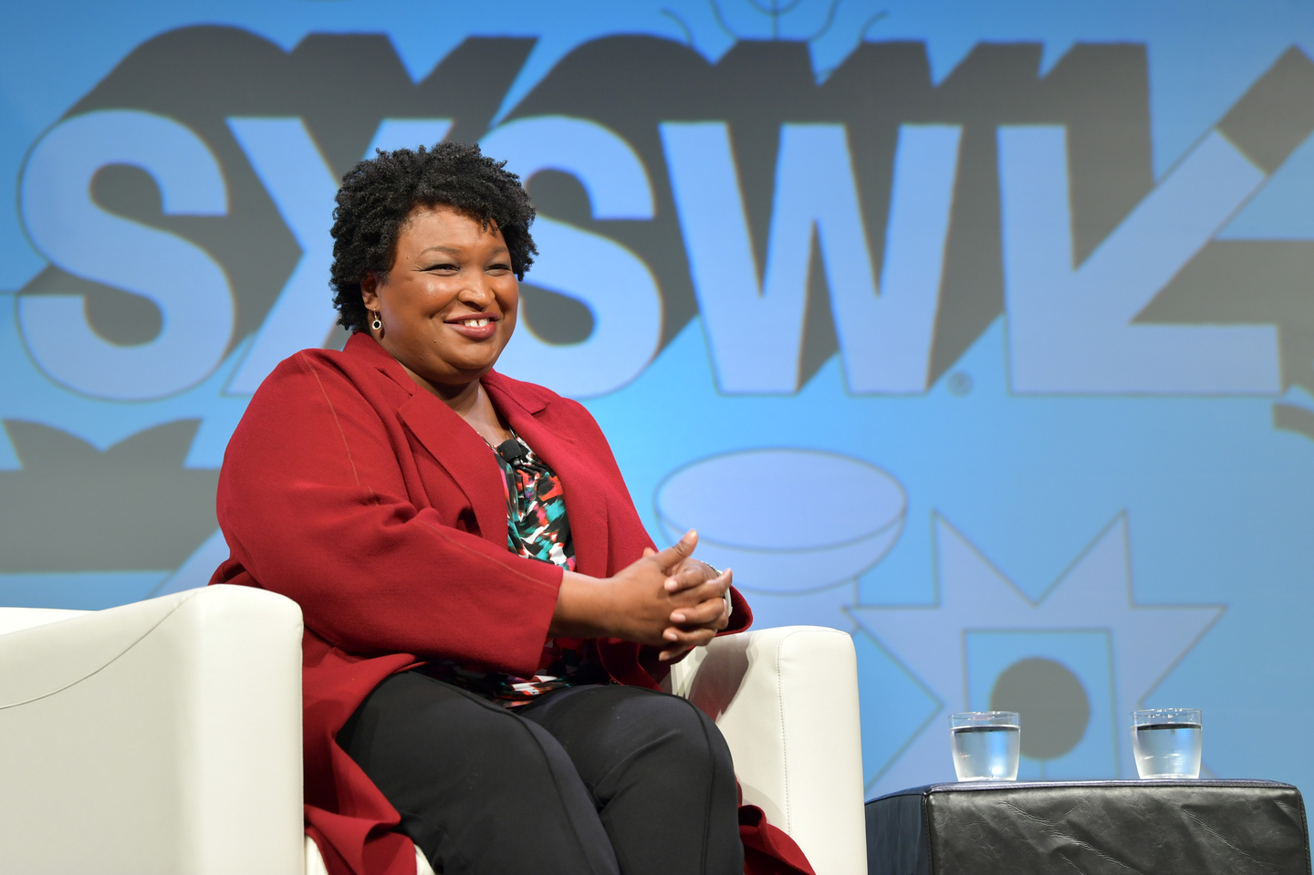 Stacey Abrams speaks onstage at her Featured Session: Lead from the Outside: How to Make Real Change.