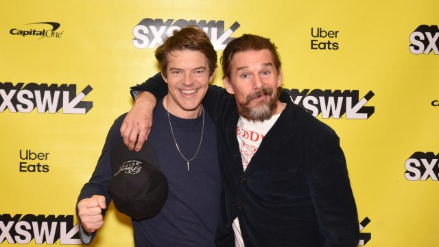 Jason Blum and Ethan Hawke attend their Featured Session. Photo by Dave Pedley/Getty Images for SXSW