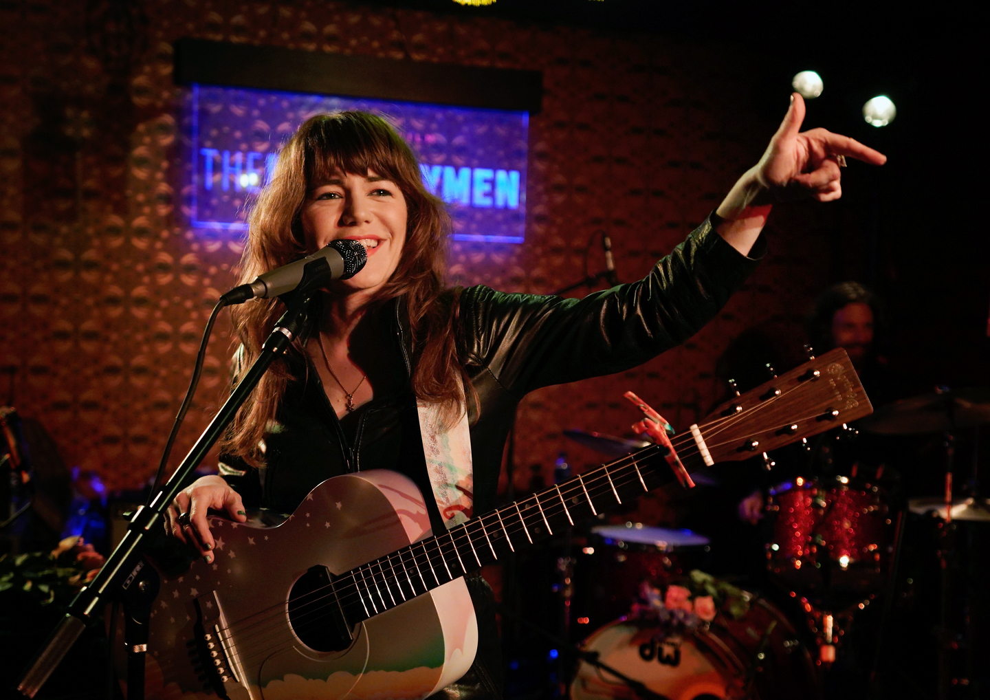 Jenny Lewis performs onstage at Collide/Netflix: The Highwaymen House at Banger's. Photo by Ismael Quintanilla/Getty Images for SXSW