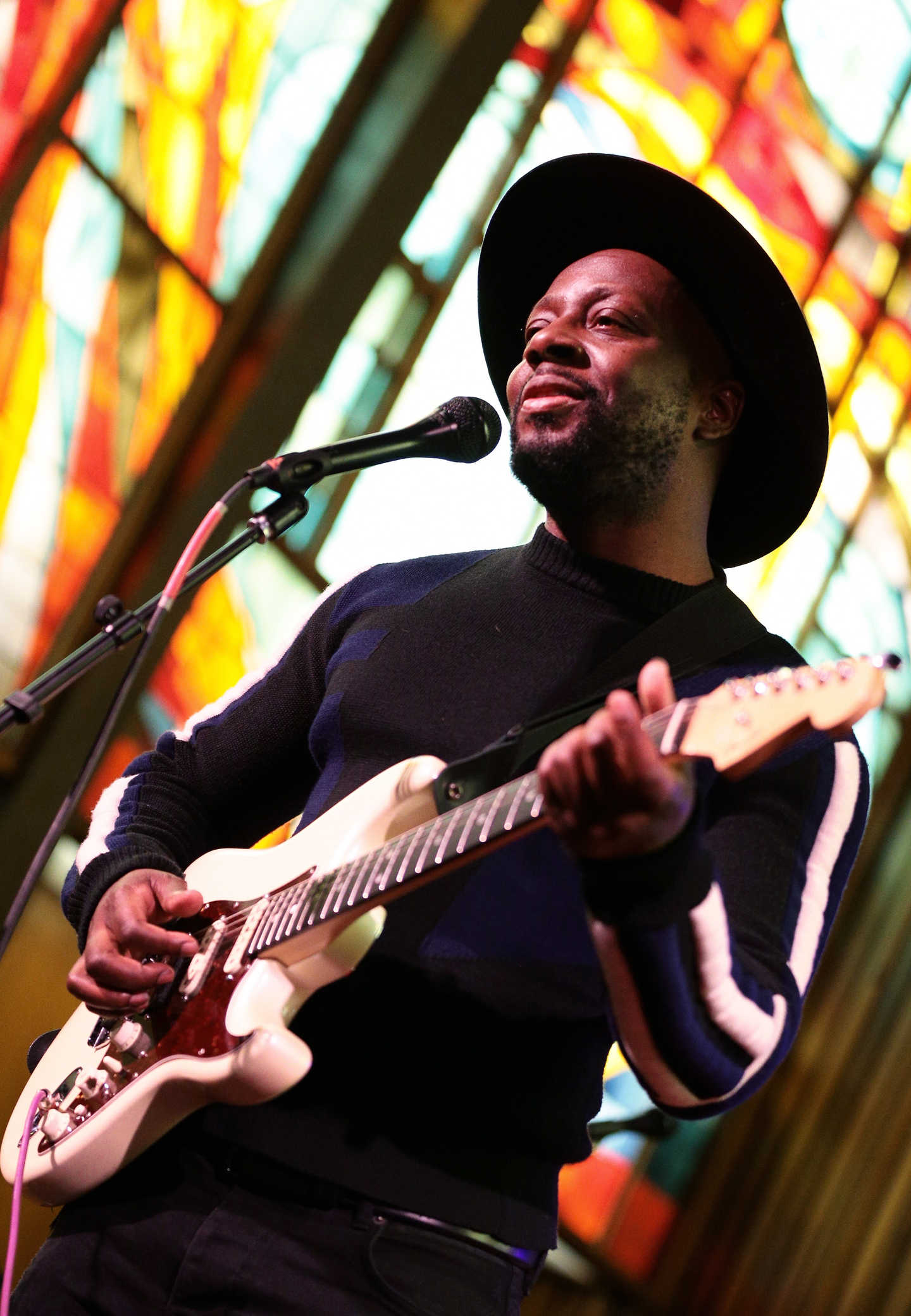 Wyclef Jean performs onstage at NPR Tiny Desk Concert at Central Presbyterian Church.