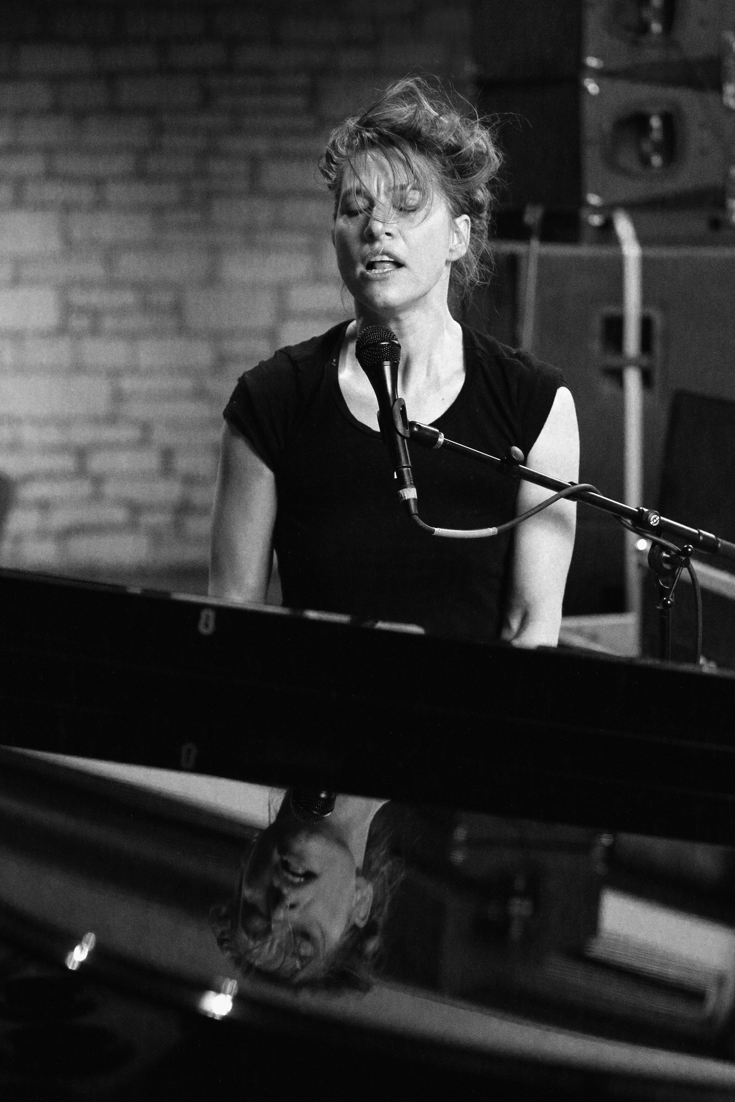 Amanda Palmer performs onstage at NPR Tiny Desk Concert at Central Presbyterian Church.